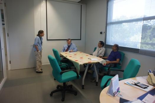 Nancy and the professors at Dr. Deva's Center for Seimic Imaging