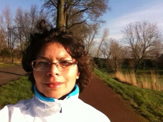 Sheila jogging in Eemnes